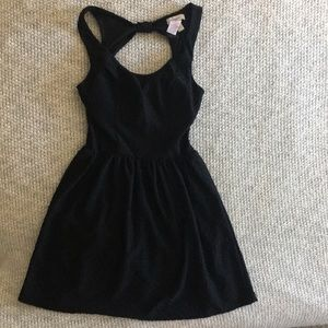 Black dress with back opening